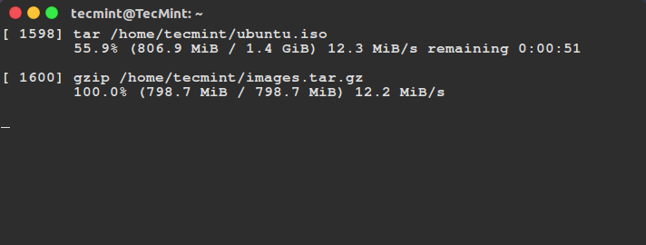 Monitor Progress of Linux Commands