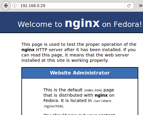 Nginx Default Welcome Page