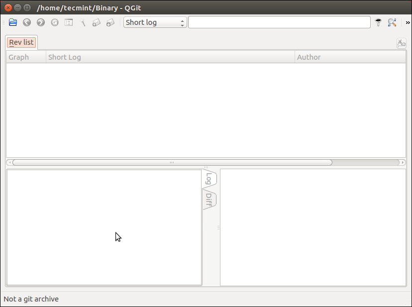 Qgit - Git Client for Linux