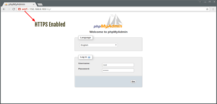 Enable HTTPS on PhpMyAdmin
