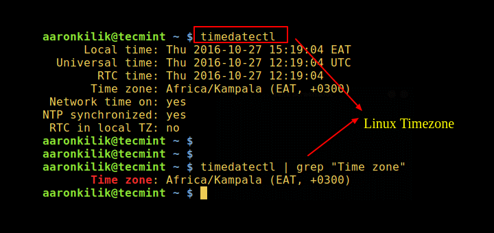 How to Check Timezone in Linux