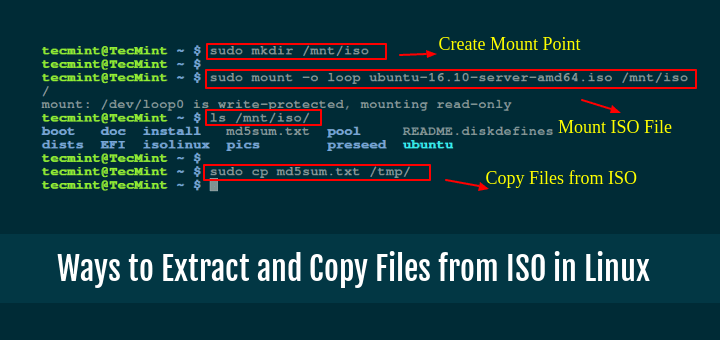 Extract and Copy Files from ISO Image in Linux