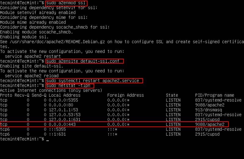 Enable Apache SSL HTTPS Support on Ubuntu 16.10