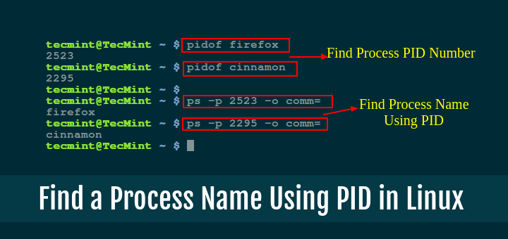 Find Linux Process Name Using PID