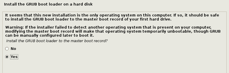 Install GRUB Boot Loader