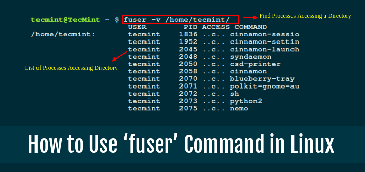Learn How To Use Fuser Command With Examples In Linux