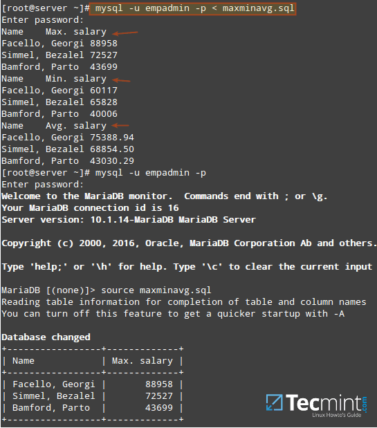 MySQL Script to Run SQL Commands