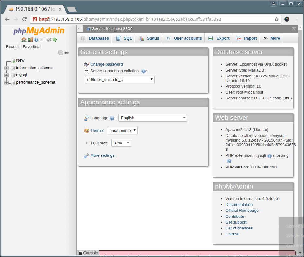 PhpMyAdmin on Ubuntu 16.10
