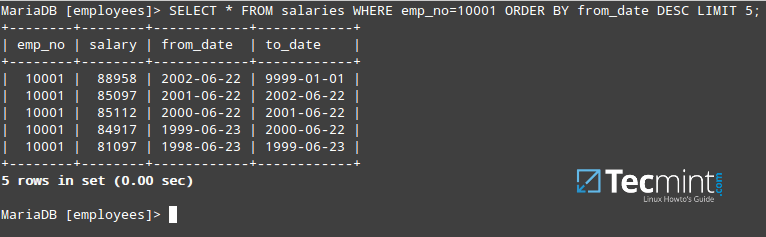 Query MySQL Table by Date Order