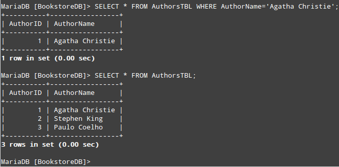 Select and Query a String in MySQL Database