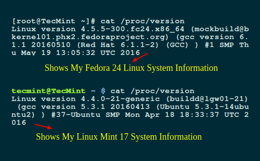 Shows Linux System Information