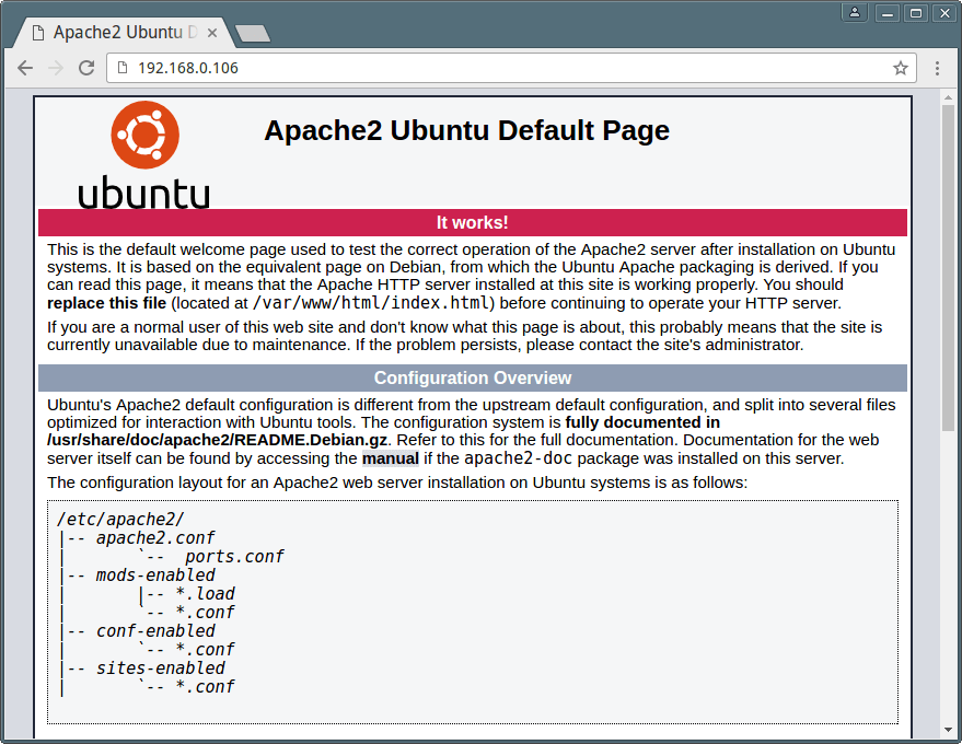 Verify Apache Web Server