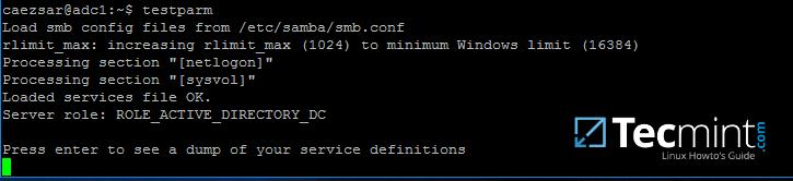 Check Samba Configuration for Errors