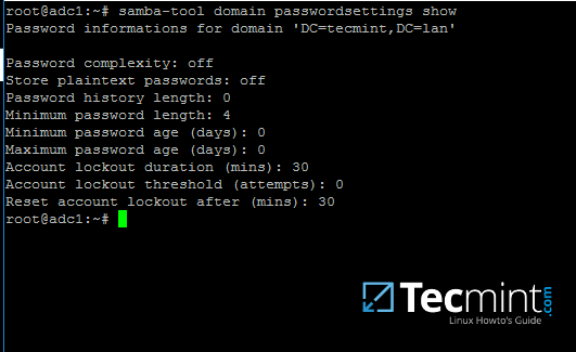 Check Samba Domain Password