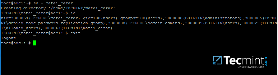 Check Samba4 AD User Authentication on Linux