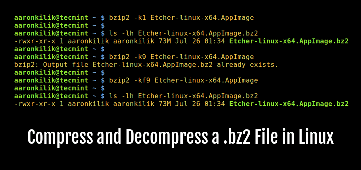 How to Compress and Decompress a  bz2 File in Linux