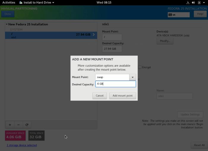Create Swap Partition