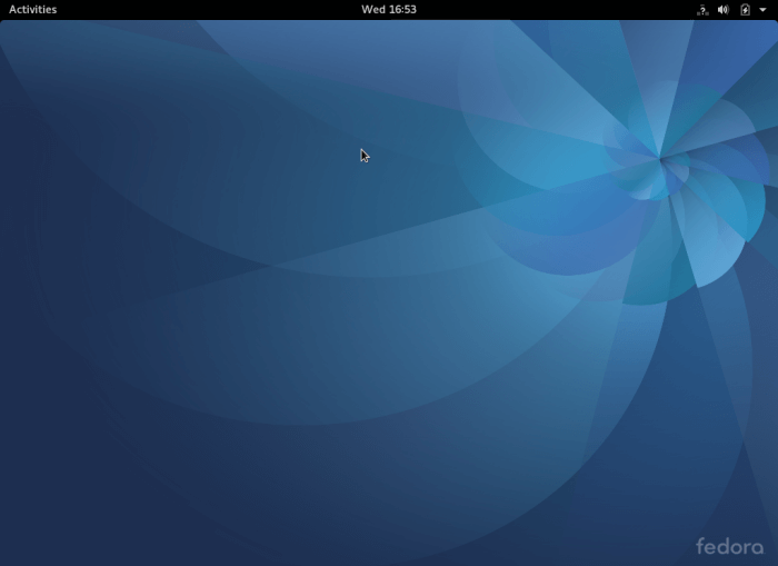 Fedora 25 Workstation Desktop