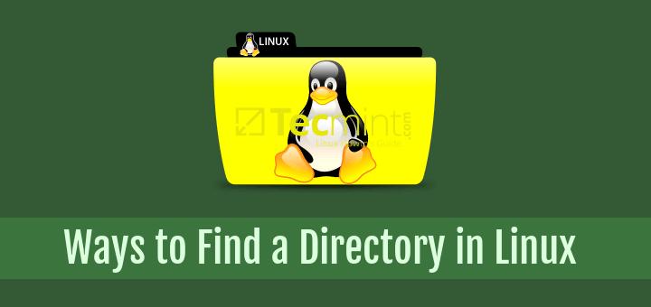 linux find folder