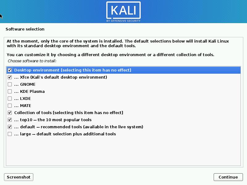 Install Desktop in Kali Linux