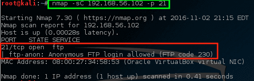 Nmap - Scan Particular Post on Machine