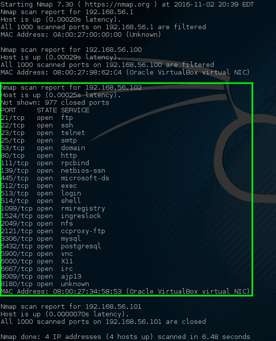 Nmap - Network Ports Scan on Host
