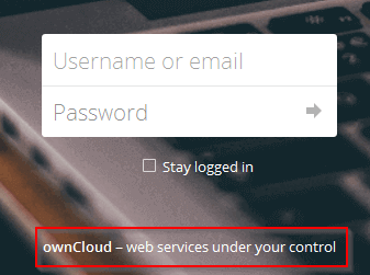 Owncloud Default Footer Text