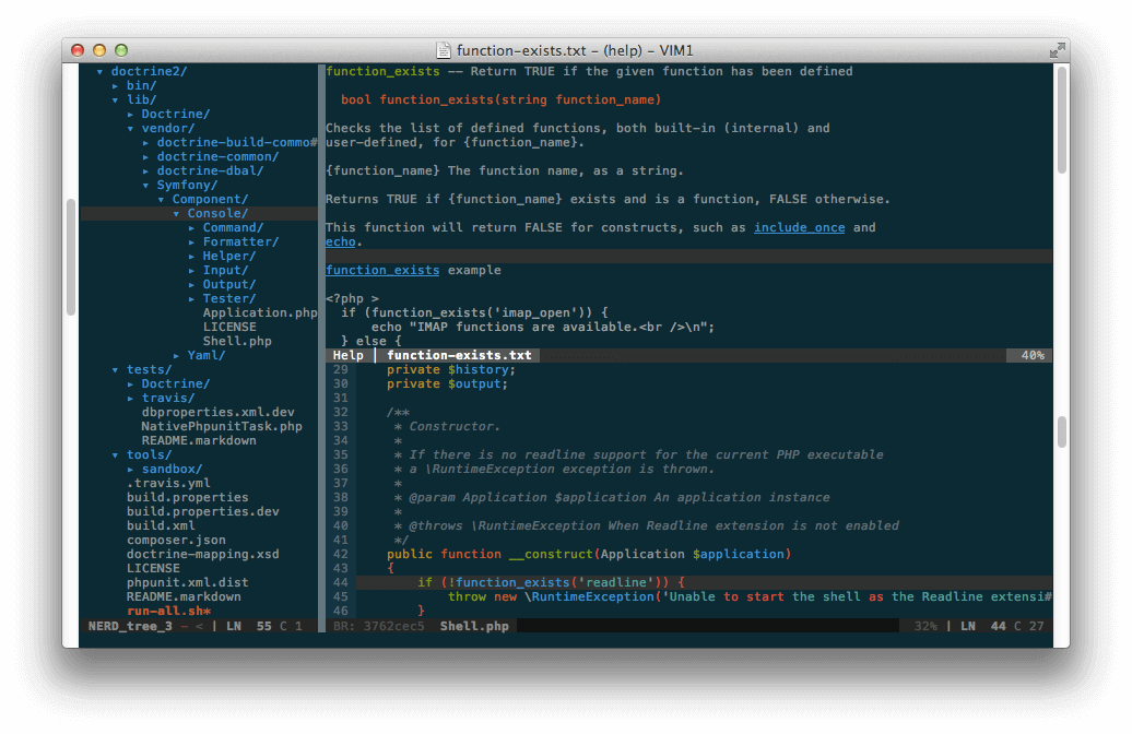 PIV Adds PHP Editing for Vim