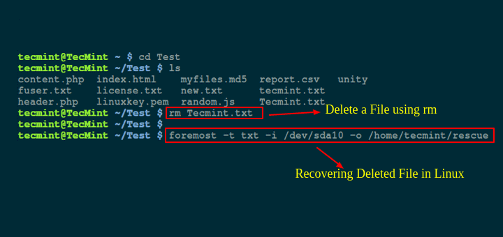 Recover a Deleted File in Linux