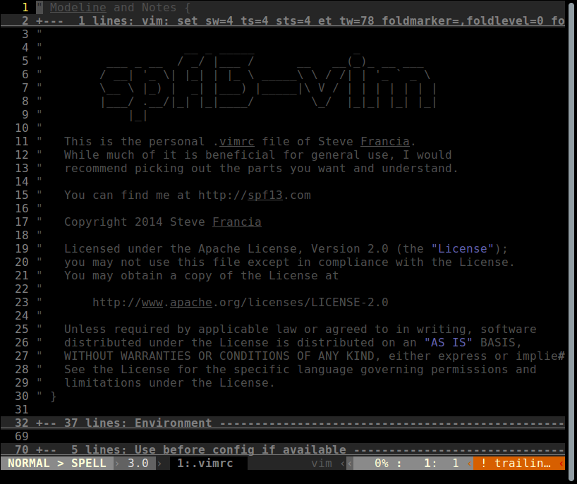 spf13-vim Configuration
