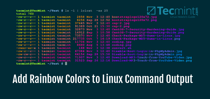 Add Rainbow Colors to Linux Command Output