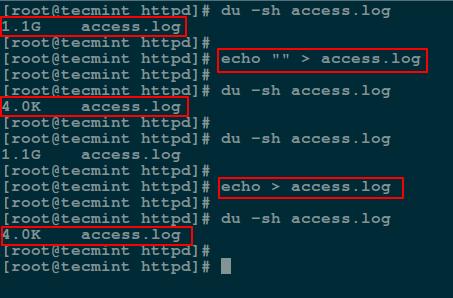 Empty File Using echo Command