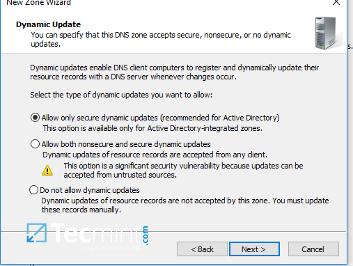 Enable Secure Dynamic Updates