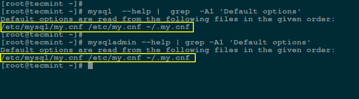 Find MySQL my.cnf Configuration File