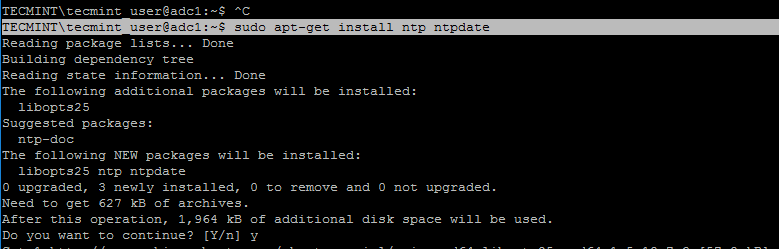 Install NTP on Ubuntu