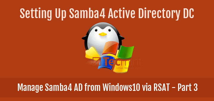 Manage Samba4 AD from Windows10 via RSAT