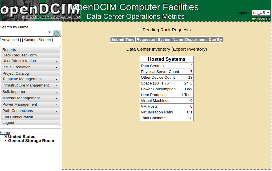 openDCIM - Data Center Infrastructure Management Platform