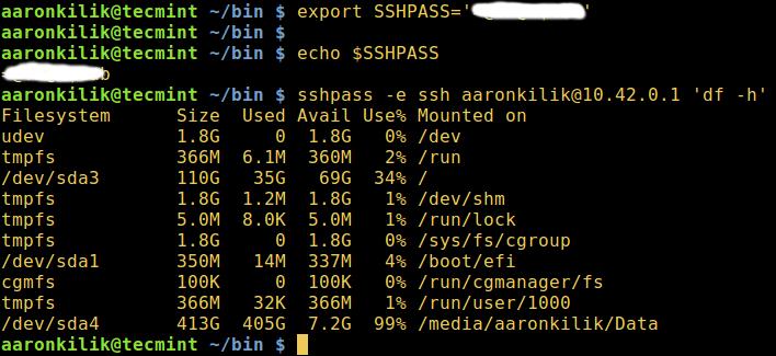 sshpass - Hide Password in Prompt