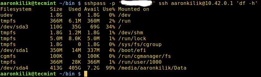 sshpass - Linux Remote Login via SSH