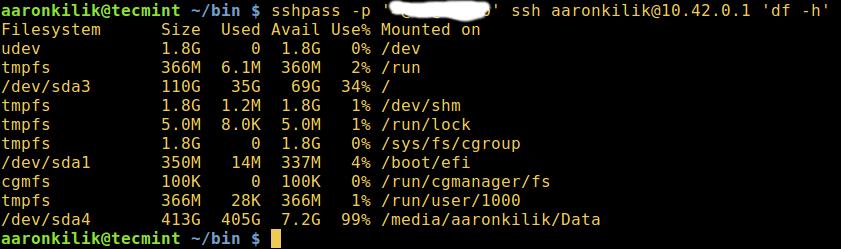 sshpass - Linux Remote Login via SSH