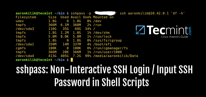 SShPas - Non Interactive SSH Login / Input Password in Scripts