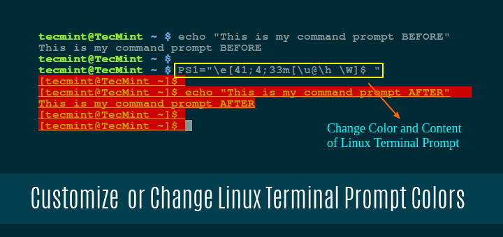 Change Linux Terminal Prompt Colors