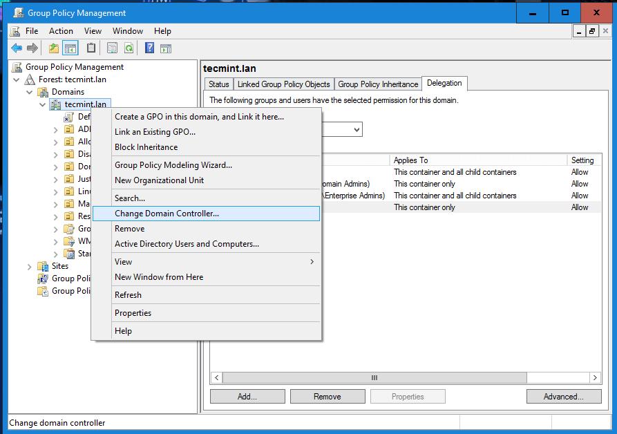 Change Samba4 Domain Controller