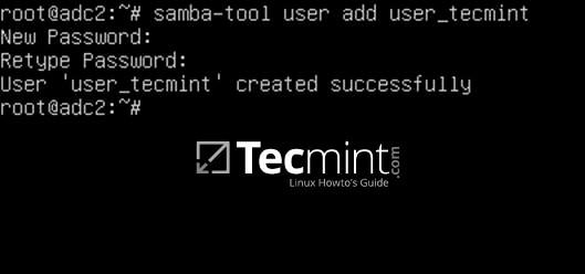 Create User Account on Samba4 AD