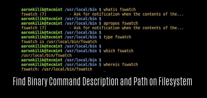 Find Linux Binary Command Location and Description