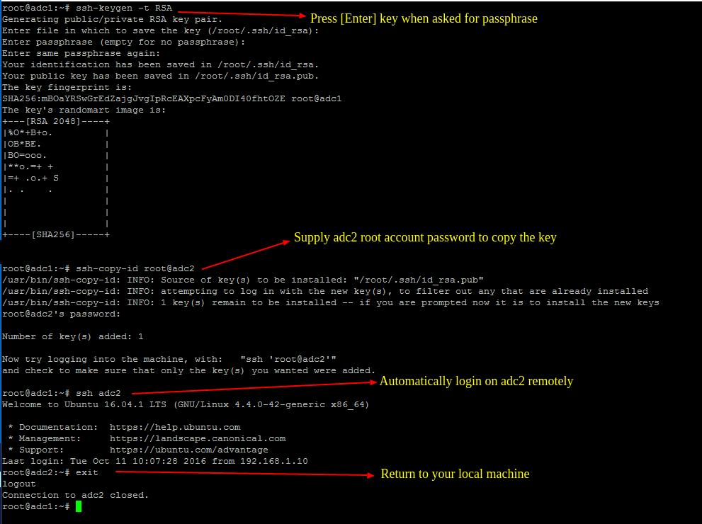 Generate SSH Key on Samba4 DC