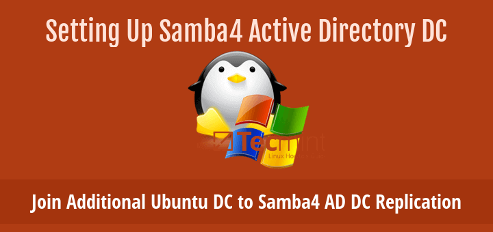 Join Additional Ubuntu DC to Samba4 AD DC Replication