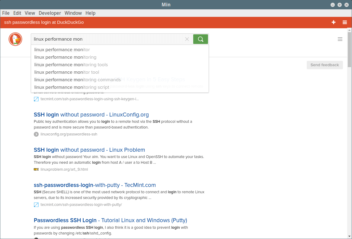 Min - A Lighter, Faster and Secure Web Browser for Linux
