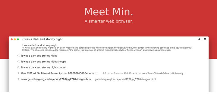 Min - Smart Web Browser for Linux
