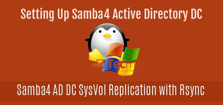 Setup SysVol Replication Across Two Samba4 AD DC with Rsync
